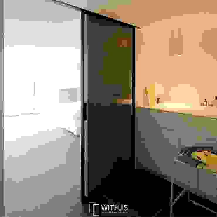 ALU-SD, 1SD(슬라이딩도어1, 상부구동형) 모던스타일 욕실 by WITHJIS(위드지스) 모던 알루미늄 / 아연