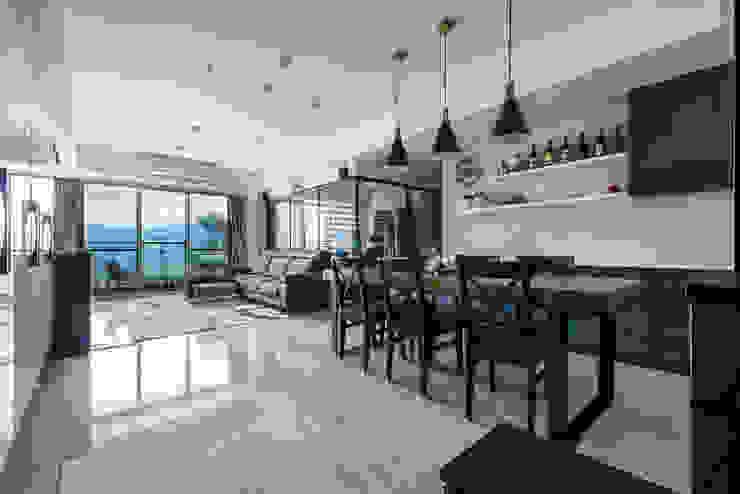 沉穩大氣-將捷家和 富亞室內裝修設計工程有限公司 餐廳 實木 Grey