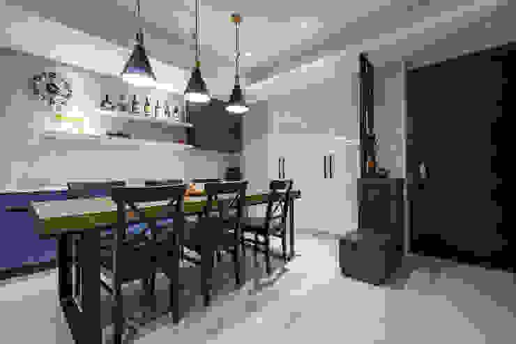 沉穩大氣-將捷家和 富亞室內裝修設計工程有限公司 餐廳 金屬 Black