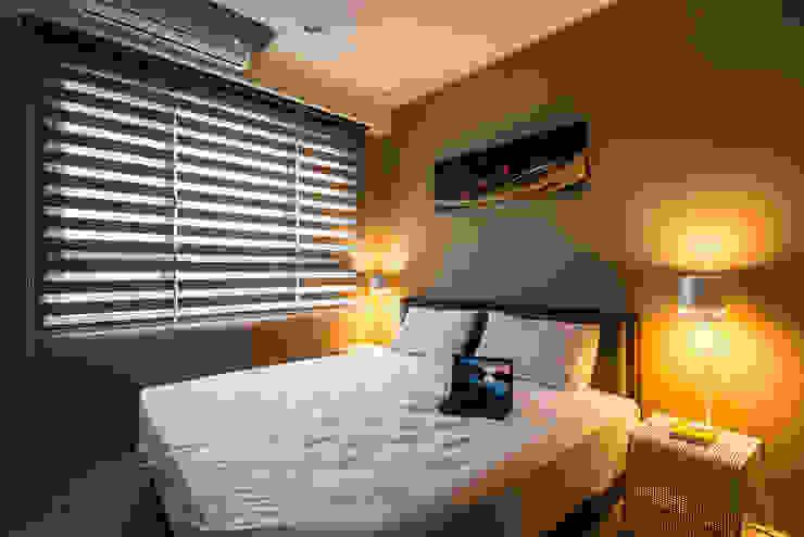 沉穩大氣-將捷家和 富亞室內裝修設計工程有限公司 臥室床與床頭櫃 天然纖維 Brown