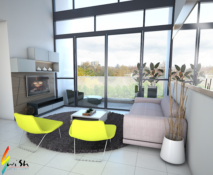 The Canopy Modern living room by Swish Design Works Modern