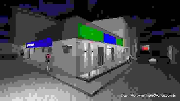 Retrofit De Fachada De Academia Por Ana Claudia Carvalho Arquitetura Interiores Light Design Homify