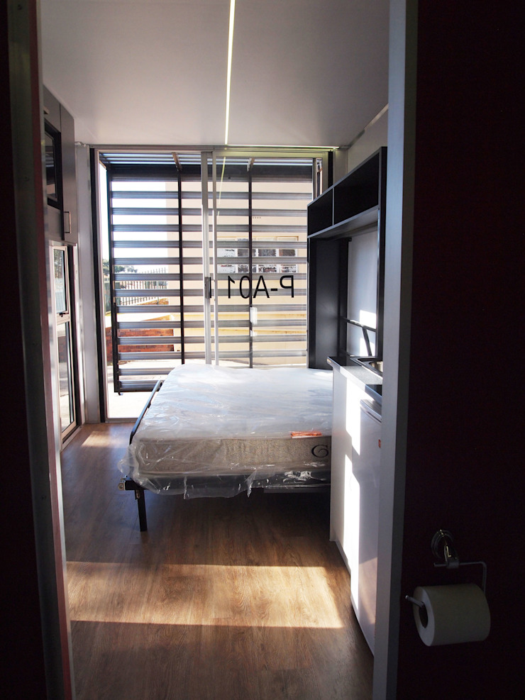 Bed by A4AC Architects Modern Wood Wood effect