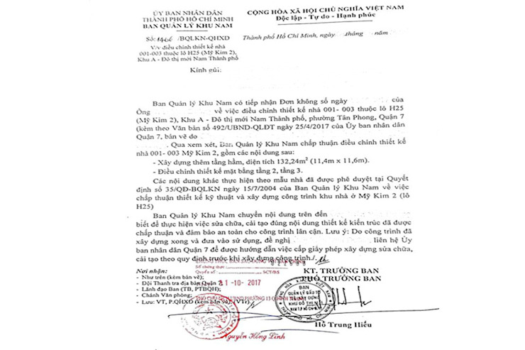Mẫu bản vẽ xin phép xây dựng mẫu tại quận Thủ Đức tphcm bởi Hoàn Thành Group