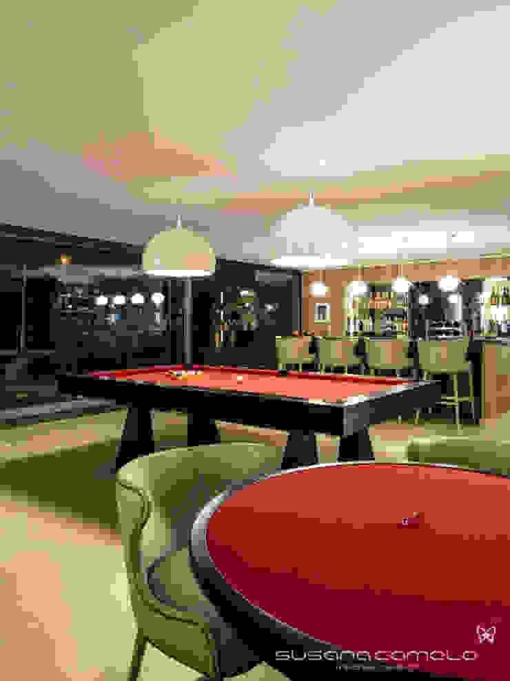 Susana Camelo Moderne Wohnzimmer Rot