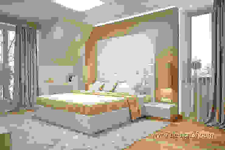 студия Design3F Dormitorios de estilo minimalista Plata/Oro Beige