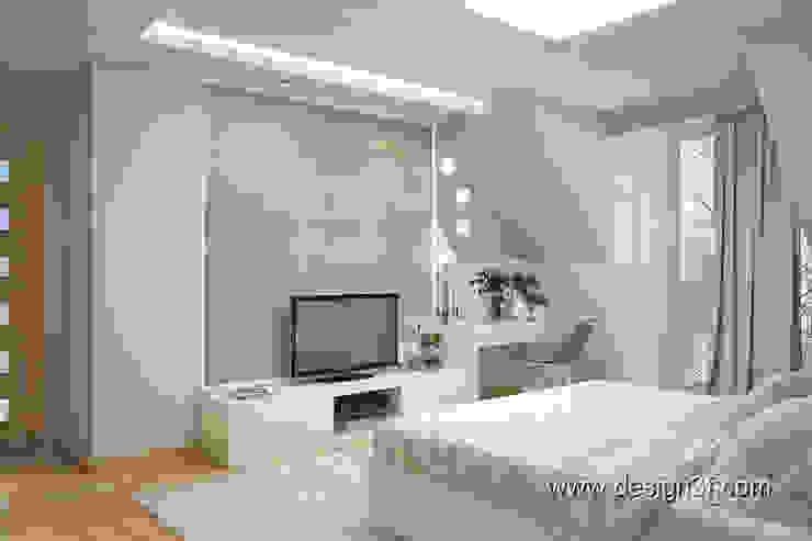 студия Design3F Dormitorios de estilo minimalista Beige