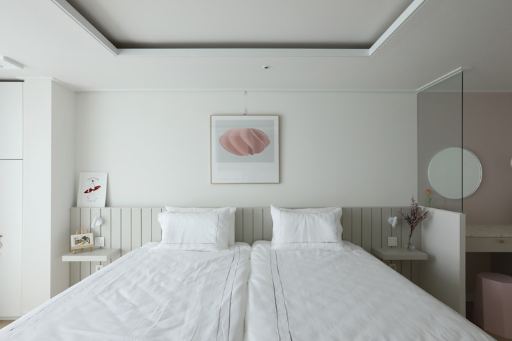 밤섬 예가 37평 모던스타일 침실 by 카멜레온디자인 모던