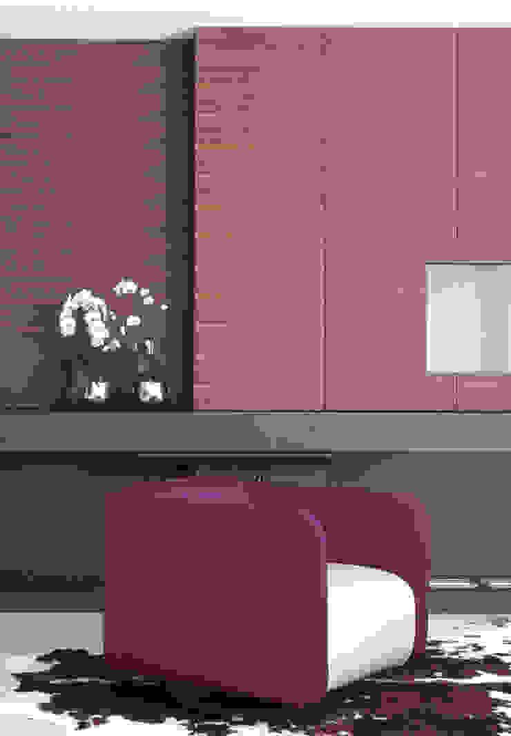Haus mit Anbauten Moderne Wohnzimmer von SISAFORM Modern