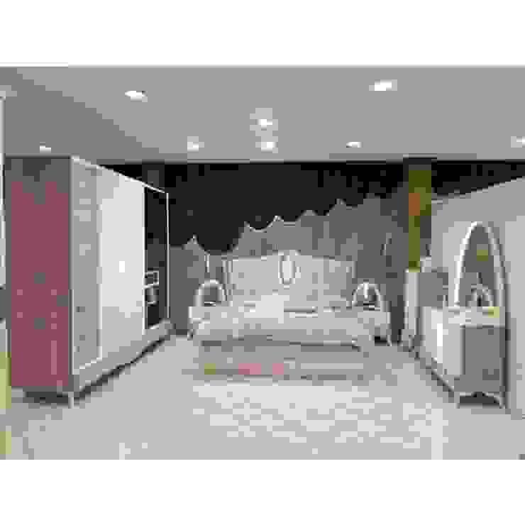 غرفة نوم: البحر الأبيض المتوسط  تنفيذ أثاث كوم, بحر أبيض متوسط MDF