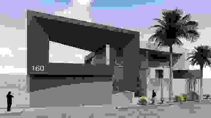 FACHADA PRINCIPAL Casas de estilo moderno de GRUPO VOLTA Moderno