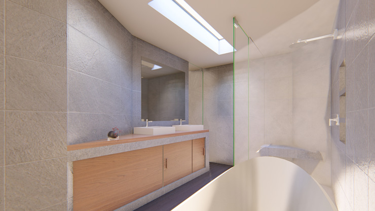 Modern bathroom by GRUPO VOLTA Modern Tiles