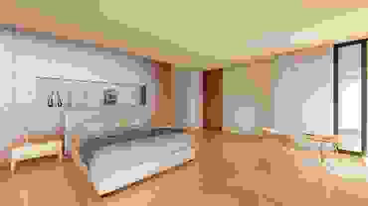 RECAMARA PRINCIPAL Dormitorios de estilo moderno de GRUPO VOLTA Moderno Madera Acabado en madera