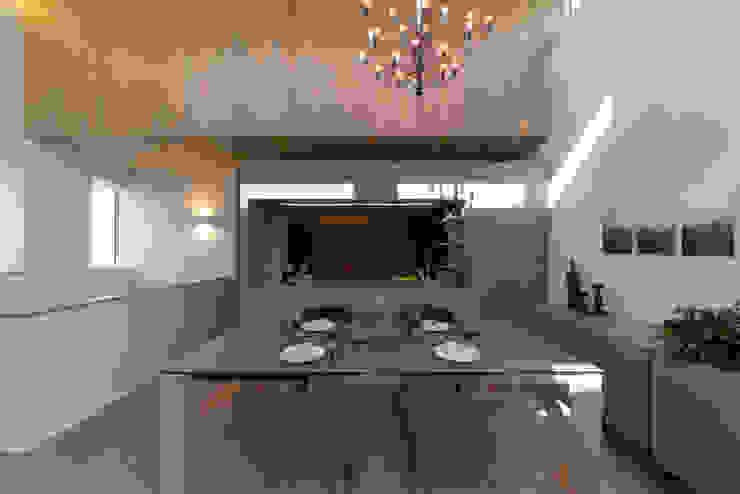 Phòng ăn phong cách hiện đại bởi タイコーアーキテクト Hiện đại