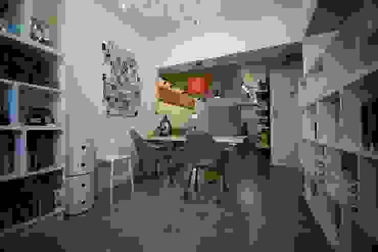 輕工業風活潑住家設計 大觀創境空間設計事務所 書房/辦公室
