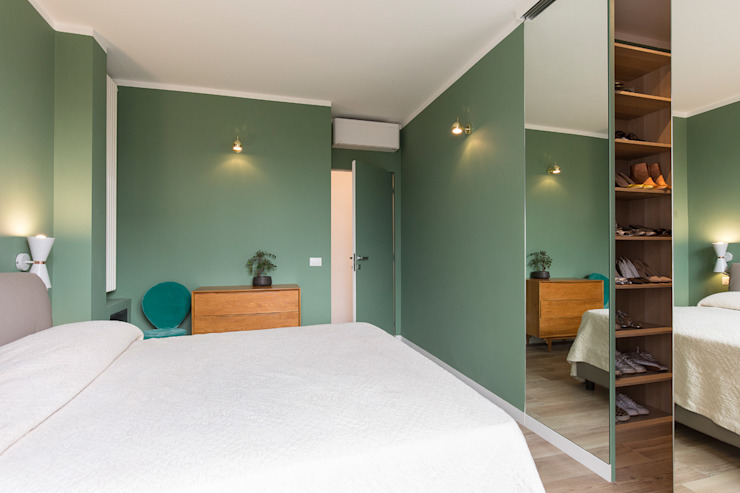 Camera da letto matrimoniale Fabio Carria Camera da letto moderna Piastrelle Verde