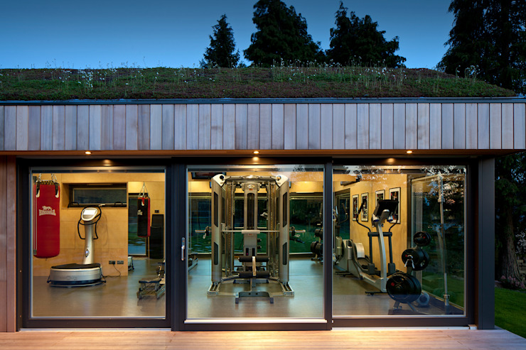 homify Modern gym Wood Wood effect