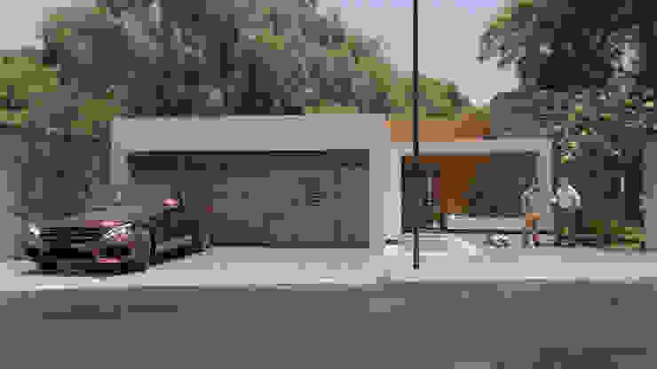 Residencia las Fuentes, Puebla. de URBAO Arquitectos Moderno Concreto