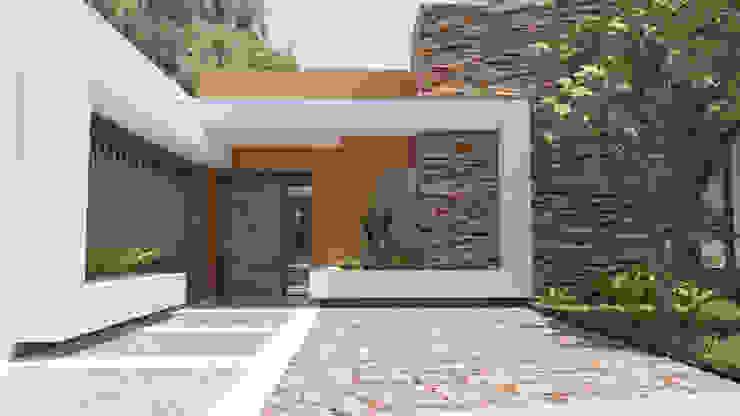 от URBAO Arquitectos Модерн Бетон