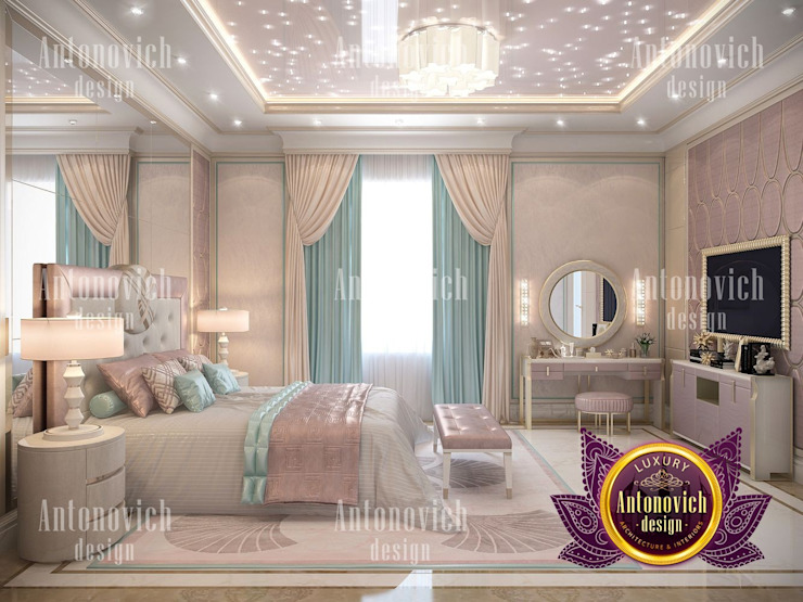 Femme Pastel Bedroom For All Ages by Luxury Antonovich Design