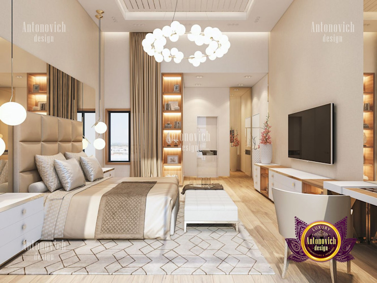 Elegant Bedroom Interior Design by Luxury Antonovich Design