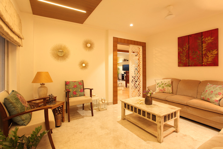 Drawing Room: rustic  by Saloni Narayankar Interiors,Rustic