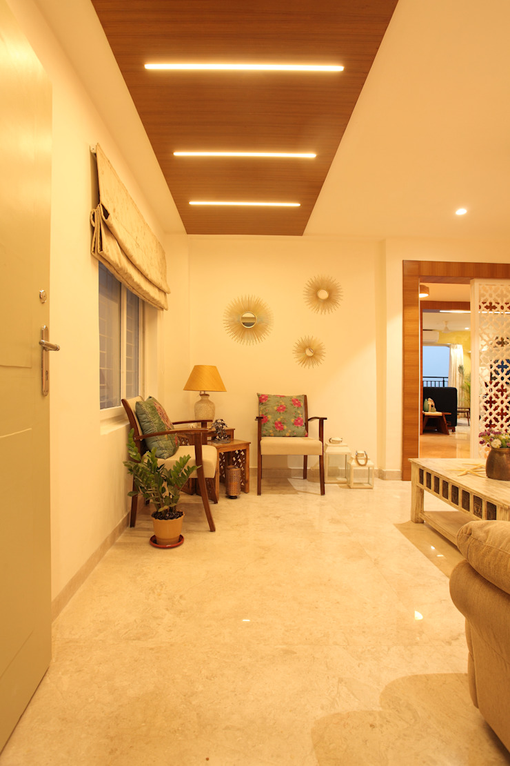 Drawing Room Saloni Narayankar Interiors Living roomLighting