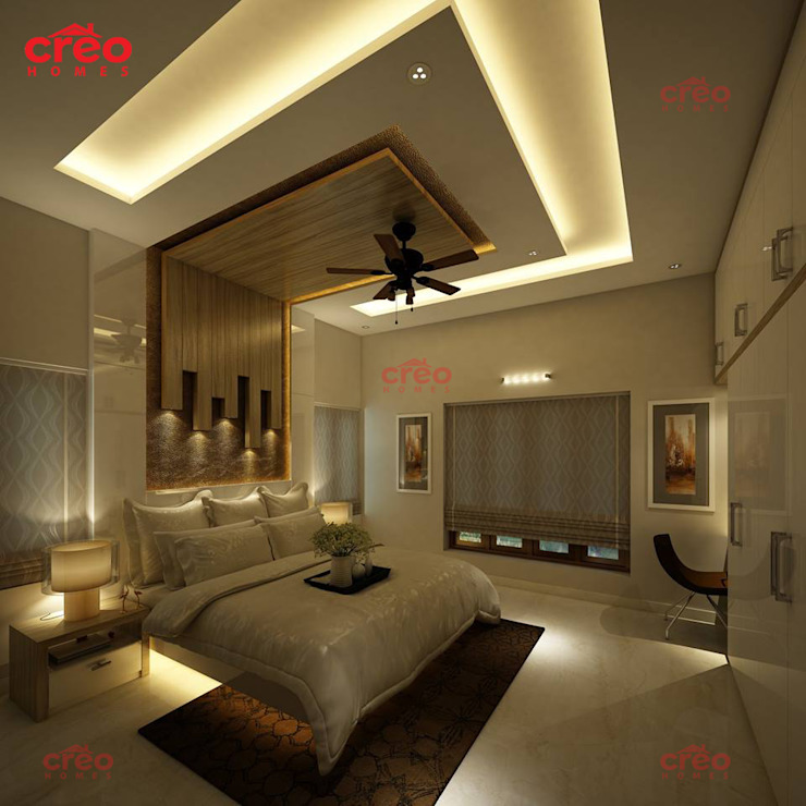 Architects in Kerala Asian style bedroom by Creo Homes Pvt Ltd Asian
