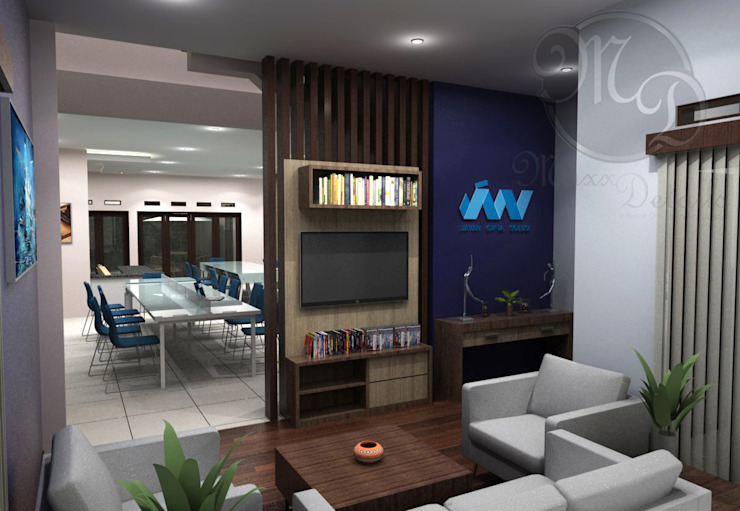 Ruang Tunggu Kantor & Toko Modern Oleh Maxx Details Modern