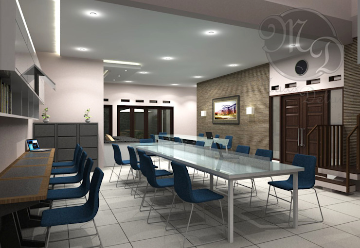 Ruang kerja Kantor & Toko Modern Oleh Maxx Details Modern