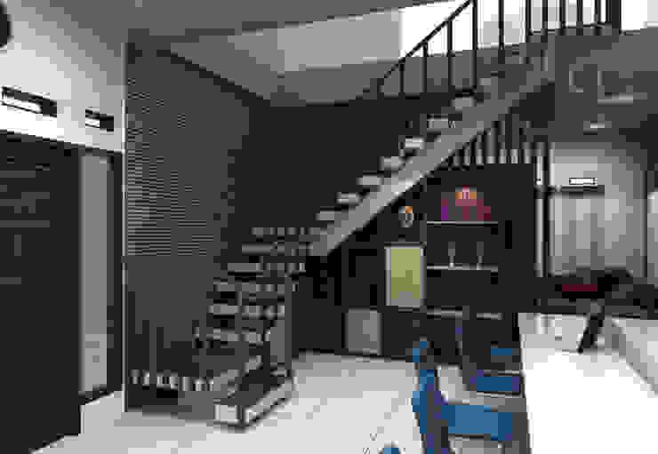 Lantai atas Kantor & Toko Modern Oleh Maxx Details Modern