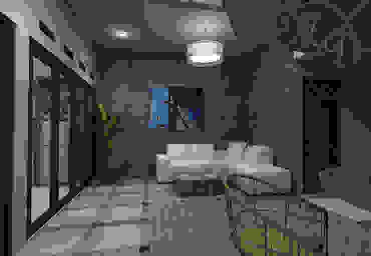 Area bersantai Kantor & Toko Modern Oleh Maxx Details Modern