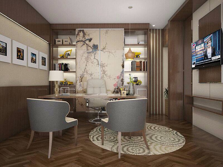 Ruang kantor 2 Kantor & Toko Modern Oleh Maxx Details Modern