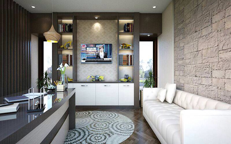 Ruang kantor 3 Kantor & Toko Modern Oleh Maxx Details Modern