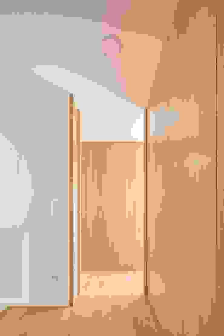Modern corridor, hallway & stairs by Boost Studio Modern Wood Wood effect