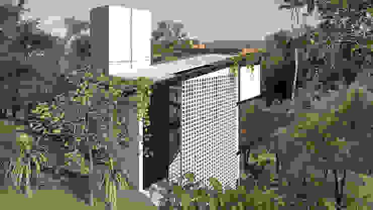 Industrial style houses by Quatro Fatorial Arquitetura e Urbanismo Industrial