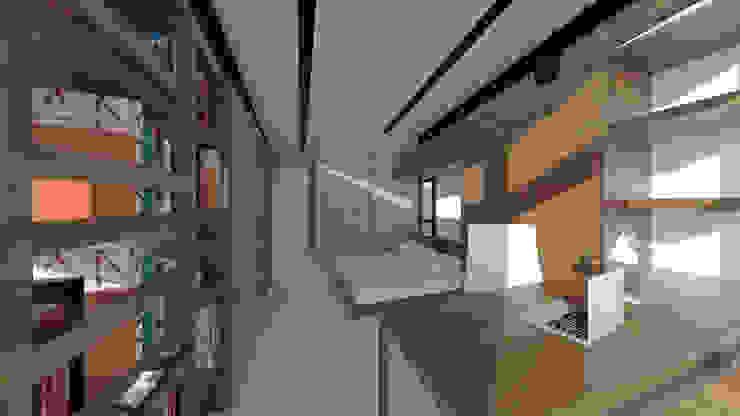 Industrial style bedroom by Quatro Fatorial Arquitetura e Urbanismo Industrial