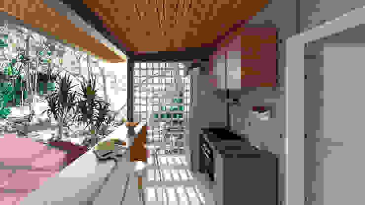 Industrial style kitchen by Quatro Fatorial Arquitetura e Urbanismo Industrial