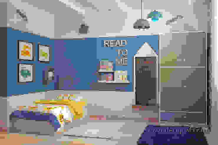 студия Design3F Dormitorios infantiles de estilo ecléctico Azul