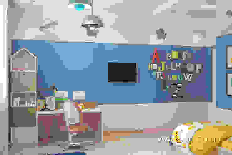 студия Design3F Dormitorios infantiles de estilo ecléctico Blanco
