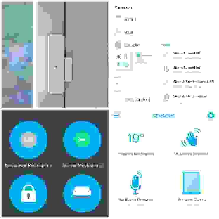 Seguridad Hogar Inteligente Puertas y ventanas de estilo moderno de Adriana Correa Diseño Inteligente Moderno