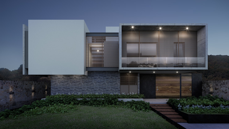 Fachada principal Casas modernas de HAC Arquitectura Moderno
