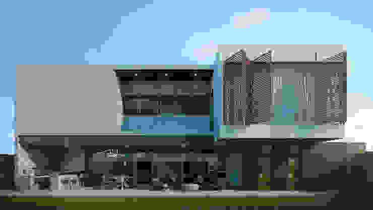 Fachada posterior Casas modernas de HAC Arquitectura Moderno