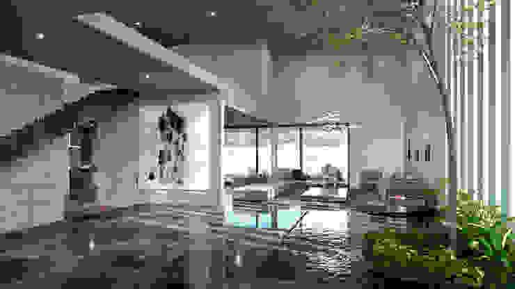 interior Pasillos, vestíbulos y escaleras de estilo moderno de HAC Arquitectura Moderno