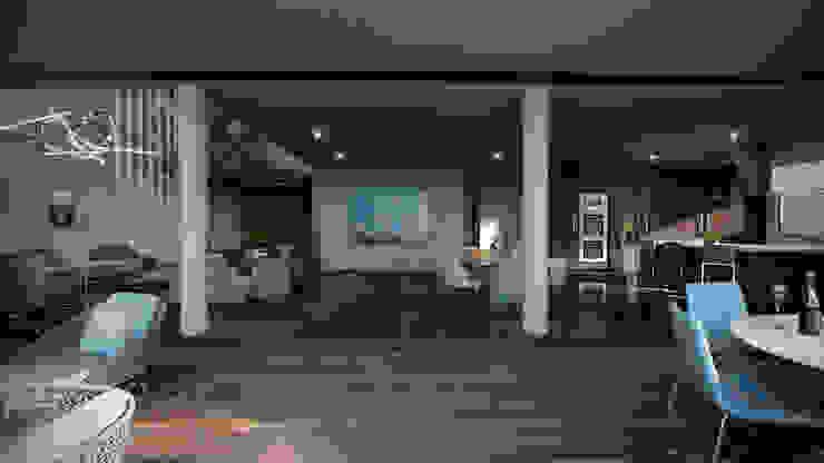 Terraza Balcones y terrazas de estilo moderno de HAC Arquitectura Moderno