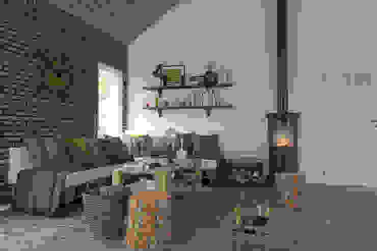 ahşap oturma saloni Artec Mimarlık Klasik Oturma Odası