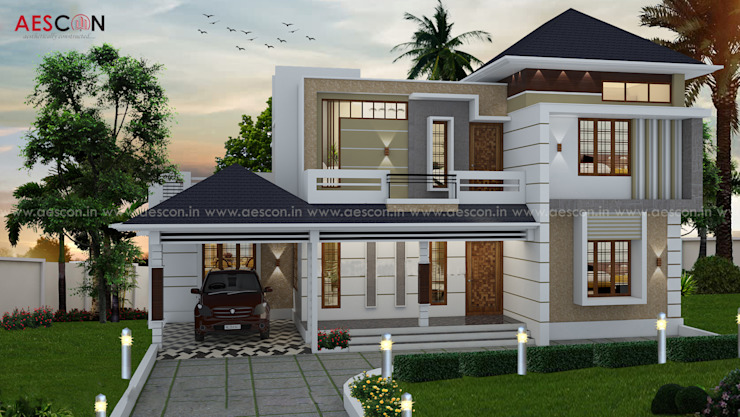 Architects in Kochi Asian style houses by Aescon Builders and Architects Asian