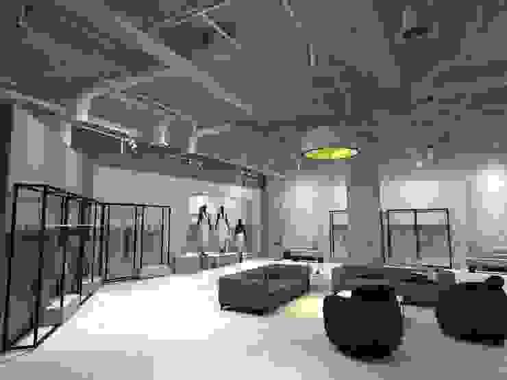 Ruang Santai Tamu x Etalase 2 Pusat Perbelanjaan Gaya Industrial Oleh Studié Industrial