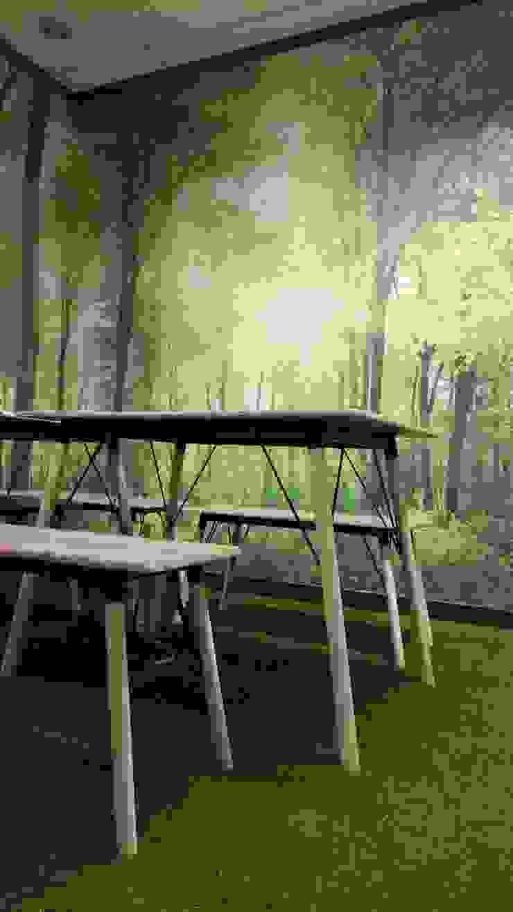Lounge Bangunan Kantor Tropis Oleh Studié Tropis