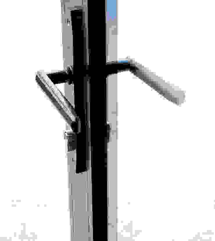 Sieger Door handle IQ Glass UK Modern style doors Aluminium/Zinc Black